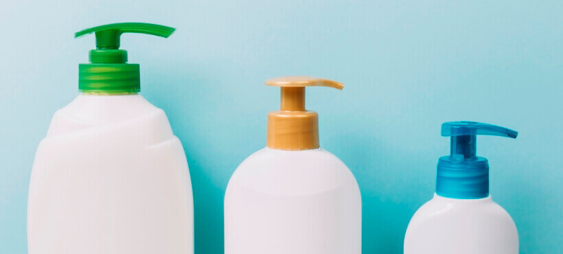 Shampoos in pump bottles